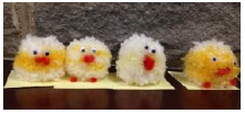 Easter pompom chicks