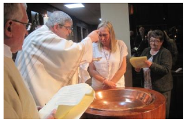 Emma Louise Bernadette Hewlett was baptised by Fr. Patrick Wall at the Easter 2017 Vigil.