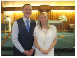 Jon Moss and Emma were confirmed at the Easter Vigil.